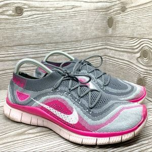 Nike Free 5.0 flyknit running shoes women's